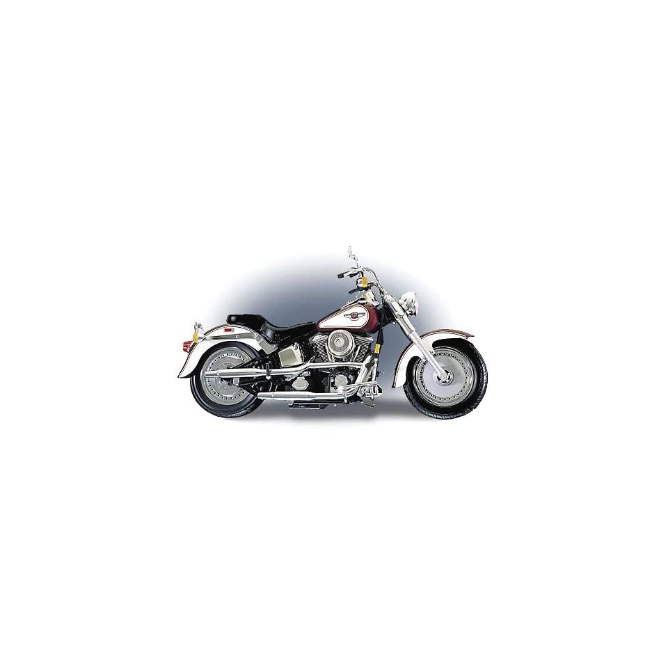 Franklin Mint 1998 Harley Davidson Fat Boy Motorcycle   110 Scale Die Cast Replica
