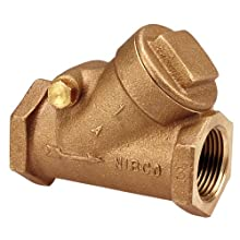 "NIBCO NL74005 Cast Bronze Check Valve, Silent Check, Class 125, PTFE Seat, 3/8"" Female NPT Thread (FIPT)"