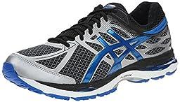 ASICS Men\'s Gel Cumulus 17 Running Shoe, Mix Grey/Electric Blue/Black, 10.5 M US