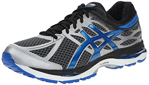 ASICS Men's Gel Cumulus 17 Running Shoe, Mix Grey/Electric Blue/Black, 12 M US (Asics Mens Running Shoes compare prices)