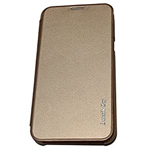 TGK™ Premium Luxury Leather High Quality Butter Fly Day Front Back Flip Cover Case for HTC DESIRE 728 / 728G (Gold)