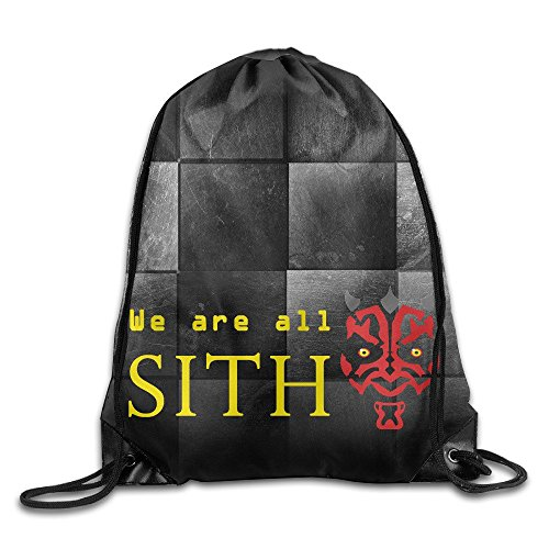 Hotboy19 Star We Are All Sith Backpack Gymsack Sport Bag White (Custom Sith Lord Costume)