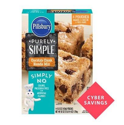 Pillsbury Purely Simple Chocolate Chunk Blondie Mix (15.5 oz. pouches, 4 ct.) (Pillsbury Doughboy Cookie Jar compare prices)