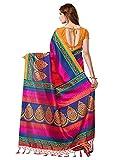 Nilesh Fab Multi-Coloured Art Silk Saree With Kutch