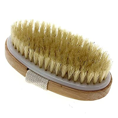 """""""Touch Me"""" Dry Skin Body Brush - Natural Bristle - Remove Dead Skin And Toxins, Cellulite Treatment ,Exfoliates, Stimulates Blood Circulation, Promote Healthy Glowing Skin"""