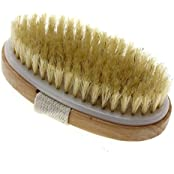 """Touch Me"" Dry Skin Body Brush Natural Bristle Remove Dead Skin And Toxins, Cellulite Treatment ,Exfoliates, Stimulates..."