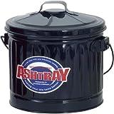 ダスト缶 灰皿 ワイド ブラック IBF-6045
