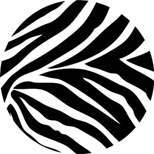 Wall Pops WPD99050 Peel and Stick Go Wild Zebra Decals, Four 13 ...