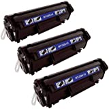 Cool Toner Remanufactured Toner Cartridge Replacement for HP Q2612A ( Black , 3-Pack )
