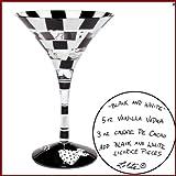 Discontinued Lolita Glassware Martini - Black and White