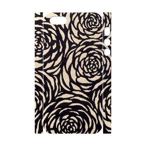 3D {FLORAL PATTERN Series} IPhone 5,5S Cases 45dc770d16ffdac83edd760df828a49e, Case Vety - White