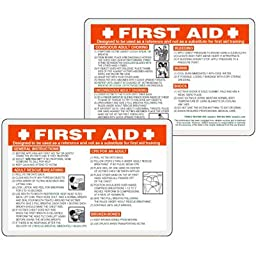 Laminated Plastic Emergency First Aid Wallet Card
