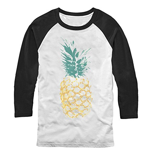 Lost Gods Distressed Pineapple Mens M Graphic Baseball Tee