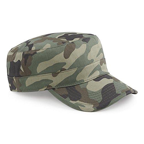 Cappellino Mimetico Militare Berretto Uomo Beechfield Army Camouflage Cotone, Colore: Jungle, Taglia Unica