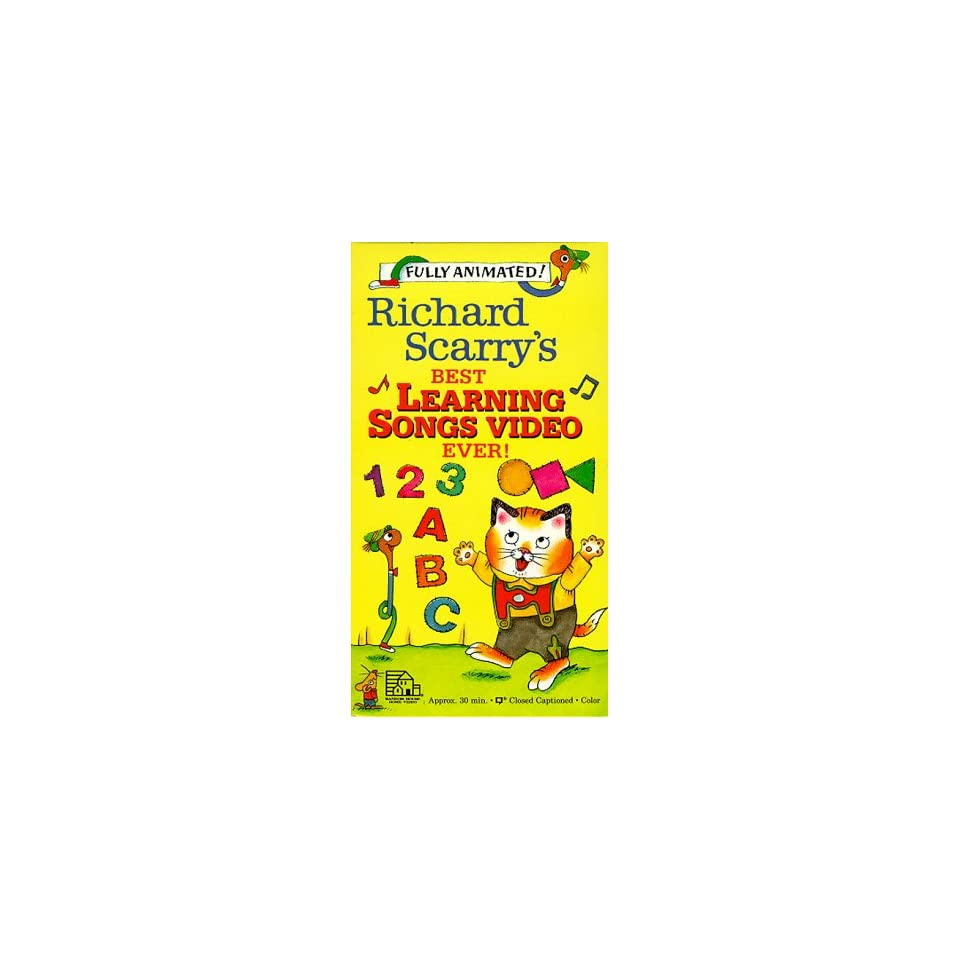 Richard Scarrys Best Learning Songs Video Ever [VHS On