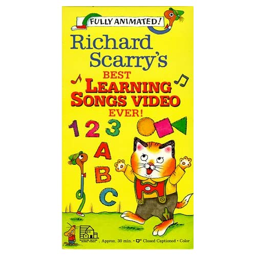 Amazon.com: Richard Scarry's Best Learning Songs Video