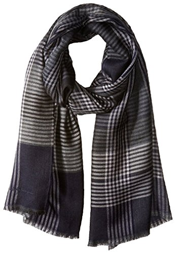 Salvatore-Ferragamo-Mens-Zadar-Plaid-Scarf-Dark-NavyGrey
