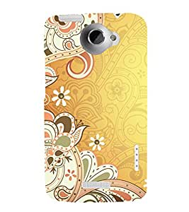 printtech Abstract Ethnic Pattern Back Case Cover for HTC One XT / HTC 1X