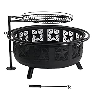 Sunnydaze Black All Star Fire Pit with