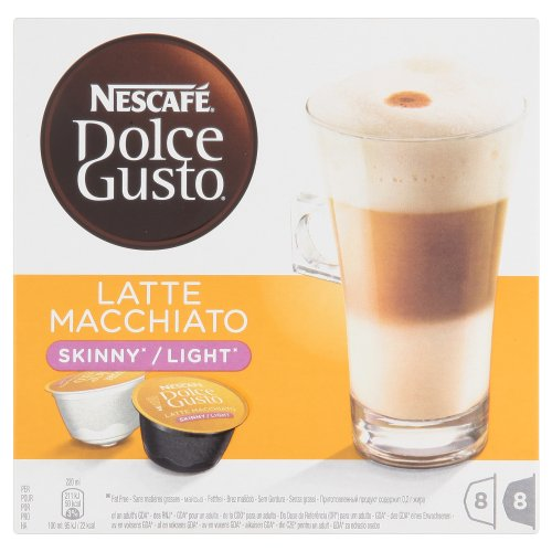 Nescafé Dolce Gusto Skinny Latte Machiato 16 Capsules, 8 servings (Pack of 3, Total 48 Capsules/coffee pods, 24 servings)