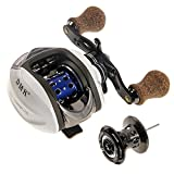 DMK Low Profile Baitcasting Fishing Feeder Reel for Right Hand with a Free Spool
