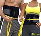 HBT Gear Waist Trimmer Ab Belt Includes Free Carrying Bag - Stomach Wrap for Faster Weight Loss & Maximize Your Sweat - For Women & Men