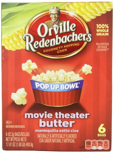 Orville Redenbacher Pop-Up Bowl Movie Theater Butter Microwave Popcorn, 17.4 Oz