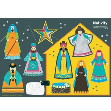 Paper Nativity Decorations||RF10F