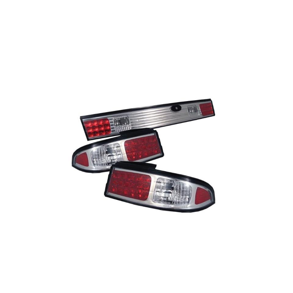 Nissan 240SX 95 96 LED Tail Lights   Chrome (3pcs