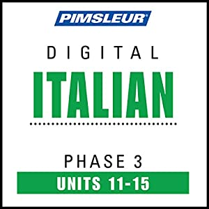 Italian Phase 3, Unit 11-15 Audiobook