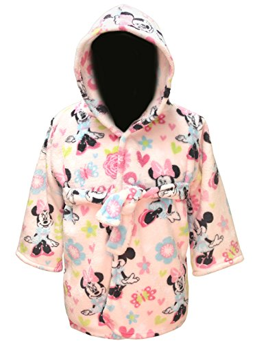 Disney Baby Little Girls Minnie Mouse Super Soft Robe (One Size)