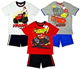 Boys Cars Lightning McQueen T-Shirt Top & Summer Shorts Set from 3 to 8 Years