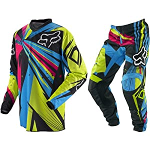 Fox Racing HC-180 Undertow Youth Boys Off-Road/Dirt Bike Motorcycle Combo Jersey & Pants - Green/Blue / Large/Size 26