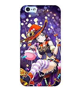 ColourCraft Beautiful Girl Design Back Case Cover for APPLE IPHONE 6S
