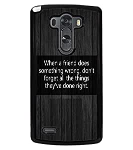PRINTVISA Friend Things Premium Metallic Insert Back Case Cover for LG G3 - D5639