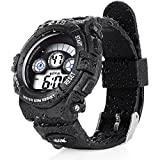 PALADA Kids T833G Waterproof Sports Digital Watches with 7 Colors LED Back Light