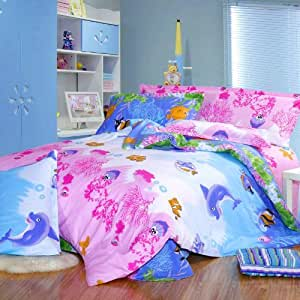 Cliab fish theme bedding sea bedding under the for Fish bedding twin