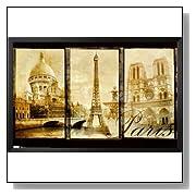 Paris Sacre Couer Eiffel Tower Notre Dame Poster