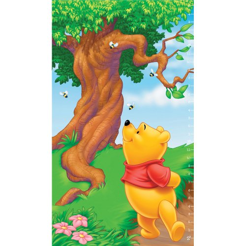 Pooh Scenic Prepasted Growth Chart, Measures up to 4-Foot-5-Inch Height - 1