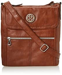 Relic Women\'s Erica Flap Crossbody Bag, Cognac, One Size