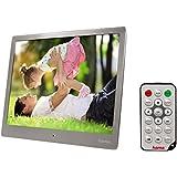 Hama Digitaler Bilderrahmen 25,4 cm (10 Zoll) für SD/SDHC/MMC, Auflösung 1024x768, mit Fernbedienung, silber