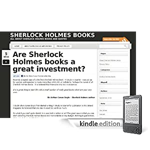Sherllock Holmes Books on Kindle