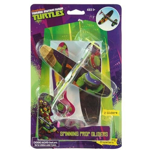 Teenage Mutant Ninja Turtles 2 Pack Plane Glider Play Set for Indoor or Outdoor Fun with Real Spinning Propellers - 1