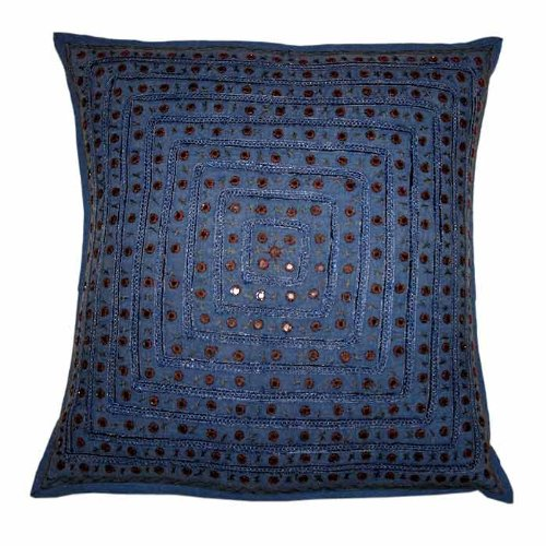 For Free Shipping Marvellous Home Decor Art Rajrang Mirror & Embroidery Work Cotton Cushion Cover Throw Pillow Cover Comforter Sets