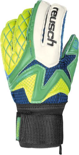 Reusch Waorani SG Impact – Guantes de portero para fútbol, color verde, talla 7.5