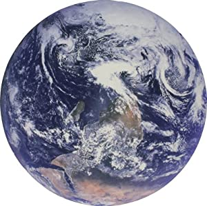 Planet Earth Globe From Space Photo Circular Doormat (24 Inch Diameter)