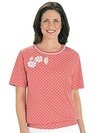 Banded bottom polka dot top at amazon women s clothing store for Banded bottom shirts canada
