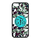 Bhite Striped Blue Monogram in The Army Camouflage Background Design Fashion Custom Luxury Cover Case With Plastic For Iphone 5 and 5S