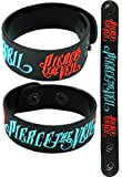 Pierce The Veil New Bracelet Wristband Aa101 Blue & Red Collide With The Sky