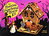 Trader Joe's Haunted Gingerbread House Kit for Halloween Decoration Gingerbread Pieces Halloween Candy Bones Bats Jellybeans